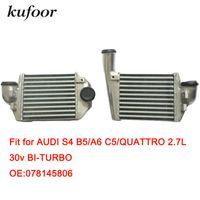 s4 parts Australia - Aluminum Intercooler fit for S4 B5 A6 C5 Quattro 2.7L 30V BI-Turbo OEM:078145806