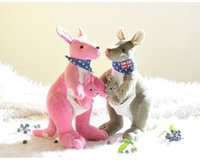 Wholesale Toy Kangaroos - Kangaroo New Arrival Hot Sell October Stuffed Animals & Plush Toys Birthday Gift Action Figure Free Shipping 20161140