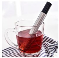 Wholesale iron cast teapots online - Tea Strainer Stick Stainless Steel Multi Function Creative Movable Easy To Clean Coffee Teapot Drinkware Tools tx J R