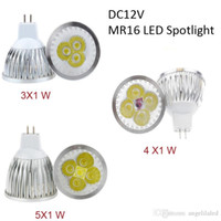 Wholesale Led 12v Mr16 Downlights - MR16 3W 4W 5W Spotlights with Super Bright High Power Cree LED Spot Light 12V White Bulb Non Dimmable Downlights Repace Halogen Lamp