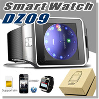 Wholesale White Mobile - DZ09 smartwatch android GT08 U8 A1 samsung smart watchs SIM Intelligent mobile phone watch can record the sleep state Smart watch