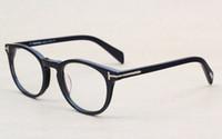 gafas para animales al por mayor-Clásico Retro Clear Lens Marcos Ópticos Gafas Diseñador de la marca Hombres Mujeres Anteojos 6123 Vintage Plank Espectáculo Miopía Gafas Marco