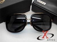 Wholesale Dita Glasses - 1pcs Best Quality Classic Dita Sunglasses Designer Brand Mens Womens Sun Glasses Eyewear black Metal Glass Lenses Brown Case