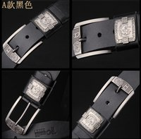 Wholesale Character Pins - 2016 hot sell Italy Men Renzo Rosso leather belt casual fashion belt pin buckle belt fashion brand retro Cow leather belt AAA Free shipping