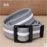 Wholesale Thick Canvas Belt - Canvas belt buckle light outdoor leisure belt male smooth thickened woven elastic canvas belt. Thick, soft, comfortable and durable.