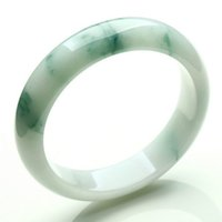 Light Green Jade Bangle Novo China tradicional Natural Myanmar Jadeite Bracelet Ice tipo ceroso para mulheres 52mm
