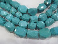 Wholesale Abacus Turquoise - Turquoise stone 2strands 8-25mm rondelle abacus nuggets faceted pink red blue spacer Bead