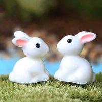 miniatur sammlerstück großhandel-Heißer Verkauf 1 Para Mini Kaninchen Ornament Miniatur Figurine Blumentopf Garten Decor Spielzeug Hause Handwerk Klassische Kunst Sammeln