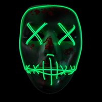 Wholesale Rave Halloween Costumes - LED Masks Halloween Masks The Purge Election Year Movie Rave Mask Party Festival Halloween Costume Prop