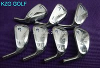 Wholesale Crazy Iron - 1set CRAZY CR-1 golf irons heads #4-#P forged carbon steel golf club heads no shaft no cover New