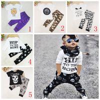 Wholesale Cool Boys Clothing Brands - Fashion Children Set Kids Suit Outfits boys Clothes T-shirt+pants Child Suit Kids Sets boys Outfits cool baby boys clothes