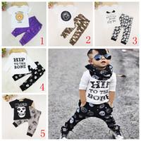 equipamento legal do bebé venda por atacado-Moda Infantil Set Crianças Terno Roupas Meninos Roupas T-shirt + calça Criança Terno Crianças Define meninos Outfits cool baby boys clothes