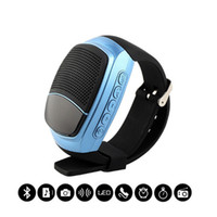 Wholesale Mobile Phone Watch Sale - 2016 hot sale B90 Mini Bluetooth Speaker Smart Watch Speaker Wireless Subwoofers Speaker With Screen Support TF FM USB