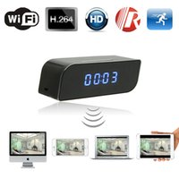 Беспроводной Wi-Fi IP 720P HD Mini Clock Spy Скрытая камера IR Home Office Security Network Веб-камера DVR Clock Бесплатная доставка