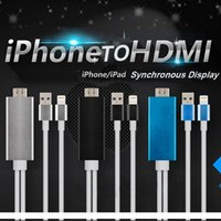 HDMI speed connections - 2M High Speed Aluminum HDMI HDTV AV Cable For iPhone S SE S Plus ipad Support HD P connection CAB141