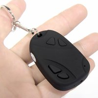 Wholesale Hidden Car Key Micro Camera - Mini DVR 808 Car Key Chain Micro Camera HD Spy Cam Keyring Camera VIDEO Hidden Camcorder without Retail Box