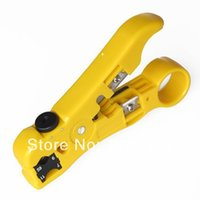 Wholesale Stripping Tool For Cable - Stripping Tool Scissors Cut Line Tools Universal Cable Wire Jacket Stripper for RG59,RG6,RG7 RG11 Free Shipping