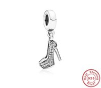Wholesale High Heels Bracelets - Real 100% 925 Sterling Silver Bead High Heel Fit Pandora Original Bracelet Charm Free Shipping DIY Jewelry Women Gift