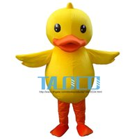 Wholesale Teams Mascot Costumes - Yellow Large Rubber Duck Cute Animal School Team Mascot Costume Fancy Dress
