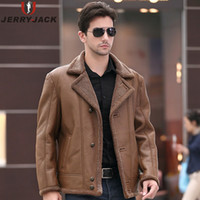 Wholesale Leather Pilot Jacket For Men - Fall- Men Leather Jacket ZA Man Brand B3 Pilot Jacket Leather Sheepskin Bomber Jacket Suede Fur Coat For Winter Men Outerwear