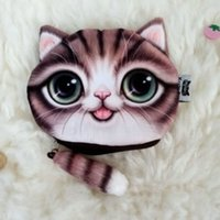 Wholesale Cat Money Purse - Coin Purse Money Bag Wallet Cute Cartoon 3D Animal Cat Change Purses Zipper Wallets Pouch Kids Ladies Handbags Boys Girls Gifts 2016 New