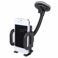 car cradles großhandel-Auto Windschutzscheibe Glas-Clip-Standplatz-Halter für Handy GPS PDA MP4 praktischer 360 Grad-drehender Halter Halterung Adjustable Car Cradle