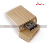 Wholesale True Memory Flash Drives - 10PCS 32GB Maple Wood USB Drive Stick Wooden Memory Flash Pendrives Genuine True Storage Light Color Suit for Custom Logo Promotion Gifts