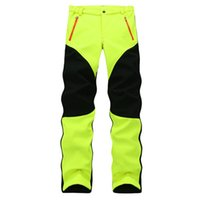 Wholesale Thick Waterproof Trousers - Wholesale-Genuine Female Outdoor Sport Stretch Fleece Trousers Thick Thermal Waterproof Windproof Soft Shell Hiking And Climbing Pant