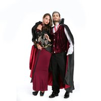 Wholesale Real Sexy Cosplay - Real Shot Halloween Lovers Costumes Europe and American Man and Woman Vampire Cosplay Costumes Sexy Role Play Disfraces