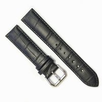 Wholesale band bar - Cbcyber watchbands men Genuine Leather Watch strap mm mm Soft brown black Watch Band with needle buckle bars and tool watch Accessories
