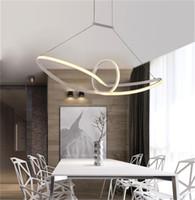 Wholesale Led Lamp Livingroom - modern minimalist led pendant light led hanging lamp suspension chandeliers livingroom indoor lighting fixture Aluminium AC90-265V