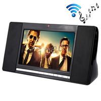 "Wholesale Android Iptv Box Camera - S01 7"" WIFI Bluetooth 4.0 Speaker HIFI 2.0 Smart Sound Box Android 4.4 Allwinner A33 Quad Core 1GB 8GB Mini PC 2.0MP Camera IPTV DHL 10pcs"