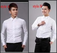 polo xxxxl toptan satış-En Kaliteli Damat Gömlek En İyi Erkek Gömlek Düğün / Balo Gömlek Standart Boyut J1