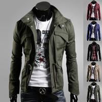 Wholesale Men S Large Jackets - British autumn men jackets large size designer mens brand jackets winter coat Slim lapel jacket fashion plus size jackets for men s coats