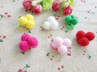 ingrosso fiori di fibre-50pcs Handmade Natale Pet Dog elastico testa fiore Pet Supplies Dog Grooming Holiday Dog Accessori