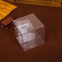 Wholesale Transparent Cupcake Boxes Wholesale - 9*9*9cm Clear PVC Square Wedding Favor Gift Box Anti Scratch Muffin Cupcake Boxes Transparent Party Candy Bags ZA1363