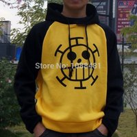 Wholesale Trafalgar Law Hoodies - 2016 New Hot sale One Piece Trafalgar Law COS Cosplay Hoodied Hoodie Jacket coat Cosplay Costumes