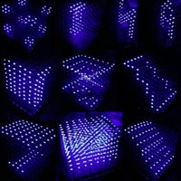 Wholesale 3D Squared DIY Kit x8x8 mm LED Cube White LED Blue Red Light PCB Board