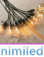 Wholesale vintage edison wire resale online - nimi807 Loft Vintage Antique With E27 V Edison Bulb Lamp Holder Wire Ceiling Base Bar Shop Pendant Lighting Edison Filament Lights