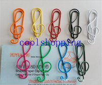 Wholesale Cute Metal Bookmark - Musical Note Mixed Color Cute Metal Clip Bag Clip Paper Clips Office School creative Gift
