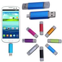 usb flash bellek 256gb toptan satış-256 GB 128 GB 64 GB USB 2.0 Flash Thumb Sürücüler Pro USB Flash Sürücü USB Mini Gümüş Plastik Döner Bellek