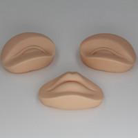 mannequins pour la pratique du maquillage achat en gros de-3D maquillage permanent Tattoo Practice remplacement de la peau 2 yeux et 1 lèvres pour la formation de la tête de mannequin