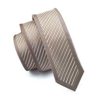 Wholesale Mixed Skinny Ties - Fashion Brand Tie Leisure Slim Narrow Ties For Men Grey And White Mix Color Head Arrow Gravata Silk Corbatas Neckties E-243