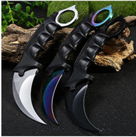 Wholesale Fighting Tools - 2018 Hunting Karambit Knife CS GO Never Fade Counter Strike Fighting Survival Tactical Knife Claw Camping Knives Tools