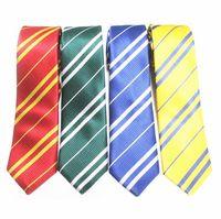 Wholesale harry potter ties - Fashion New Tie Necktie College Style Tie Harry Potter Gryffindor Series Gift Costume Accessories Gravata Masculina
