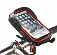 Wholesale Bag Bike Rainproof - Bike Bicycle Phone Bag Handlebar Rainproof TUP Touchscreen Cellphone Holder Bags MTB Frame Pouch cycling accessories