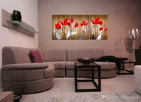 Wholesale beautiful flower art painting for sale - Group buy Modern Beautiful Flower Fine Floral Painting Giclee Print On Canvas Home Decor Wall Art Set30385