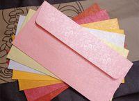 Wholesale Small Invitations Card - Wholesale- Small rose pattern envelope wedding card envelope high-grade pearl paper invitation envelopes 40pcs per sell