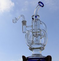 Wholesale Free Shopping Online - online shop New arrival liquidglassarts glass water pipes glass bong Recycler with built-in claim catchers 14.4mm female joint