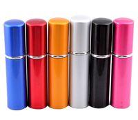 Wholesale Mini Perfume Atomiser - New Arrival Metal Fashion 5ML Deluxe Travel Refillable Mini Atomiser Spray Perfume Refillable Bottle 5 Colors